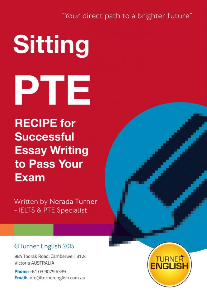 pte ielts exam preparation e books turner english register for your copy of recipe for successful essay writing